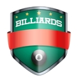 Billiards Shield badge vector image vector image