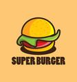 burger logo vector image vector image