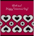 Card with an ornament from hearts vector image