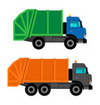 cartoon garbage trucks vector image