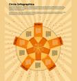 circular infographic design template vector image vector image