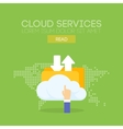 Cloud service banner concept vector image vector image