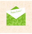 Concept Happy Easter envelope with flowers and vector image vector image
