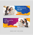 creative travel banner template collection vector image vector image