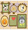 cute dogs set Bulldog Corgi Cocker Spaniel vector image vector image