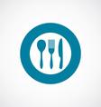 cutlery icon bold blue circle border vector image vector image