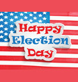 election day background vector image