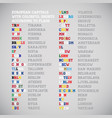 european countries capitals shorten names with vector image