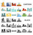 factory and facilities cartoon icons in set vector image vector image