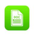 file doc icon digital green vector image vector image