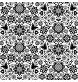 floral nordic seamless folk art pattern vector image vector image