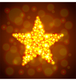 Gold glowing star background vector image vector image