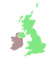 great britain and ireland map halftone icon vector image