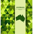 green australis mosaic background vector image vector image