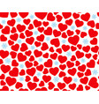 hearts seamless pattern valentines day vector image