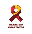 hepatitis awareness papercut ribbon vector image vector image