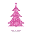 holiday lanterns line art Christmas tree vector image vector image