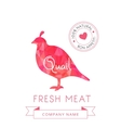 Image meat symbol quail silhouettes of animal for vector image vector image