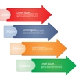 Infographic arrows for business design vector image vector image