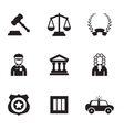 Law icons vector image vector image