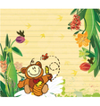 little boy with floral vector image vector image