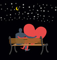 Lovers looking at stars Date night Man and love vector image
