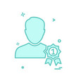male avatar icon design vector image vector image