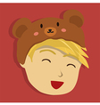 Man with Brown Bear Hat vector image vector image