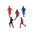 Marathon Runner Retro Collection vector image vector image