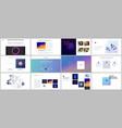 minimal presentations portfolio templates with vector image vector image