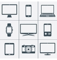 Modern digital devices icons set vector image vector image