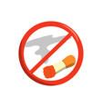 no smoking flat design vector image