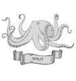 Octopus Hand drawn vector image