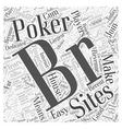online poker sites Word Cloud Concept vector image vector image
