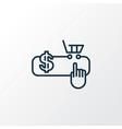 pay per click icon line symbol premium quality vector image vector image