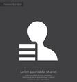 profile application premium icon white on dark bac