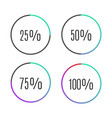 progress bar icons vector image vector image