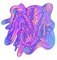 psychedelic abstract decorative waves ornament vector image vector image