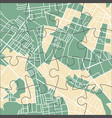 puzzle city map vector image vector image