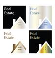real estate company logos - house logo template vector image vector image
