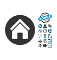Real Estate Flat Icon with Bonus vector image