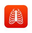 rib cage icon digital red vector image vector image