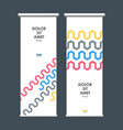 roll up banner stand with abstract wave vector image vector image