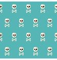 Seamless Halloween Skull Pattern with Bones over vector image vector image
