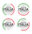 set of four italian icons made in italy vector image vector image