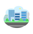 skyscrapers with modern city cityscape town vector image