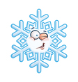 Snowflake Head Winging vector image