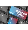special offer button on computer keyboard keys vector image vector image