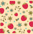 strawberry pattern 01 vector image vector image