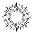 sunburst doodle line art hand drawn water splash vector image vector image